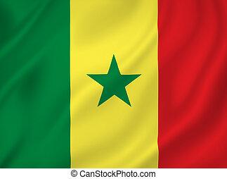 Senegal national flag background texture.