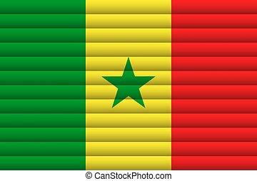 Senegal Flag. Vector Illustration.