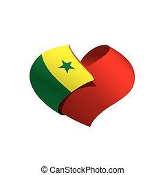 Senegal flag, vector illustration on a white background