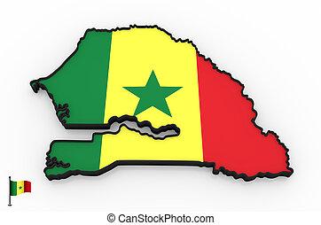 Senegal high detailed 3D map