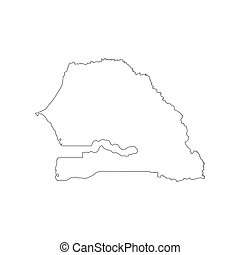 Senegal Map Administrative Division Of The Republic Of Clipart - Senegal map vector