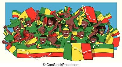 Senegal soccer fans