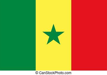 the Senegalese national flag of Senegal, Africa