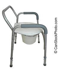 sengekant, commode, eller, brusebad, stol