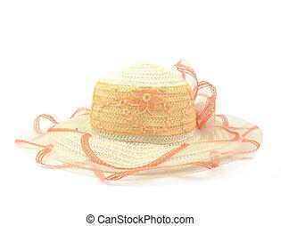 senhora, moda, chapéu