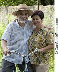 senior összekapcsol, biciklizés