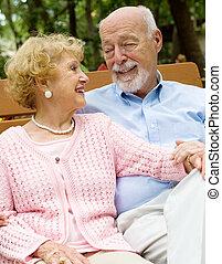 senior összekapcsol, deeply, szerelemben