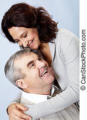 senior összekapcsol, szerető