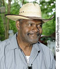 Senior Adult Portrait - Closeup image of a senior adult...