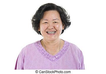 Senior adult woman