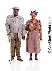 senior, afrikansk, par