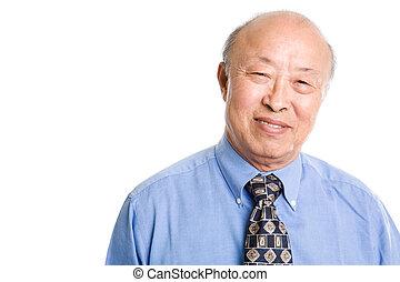 Senior asian businessman