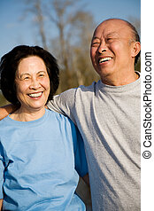 Senior asian couple - A shot of a senior asian couple having...