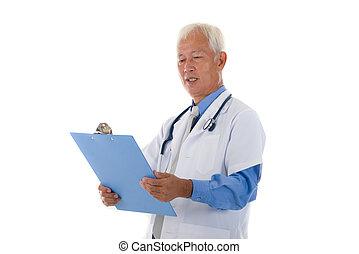 senior asian medical officer