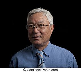 senior, aziatische man