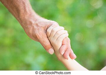 senior bábu, és, csecsemő