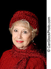 Senior Beauty In Red