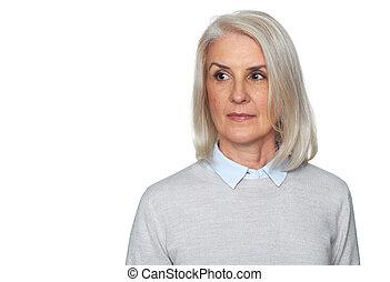Senior blonde woman ????????