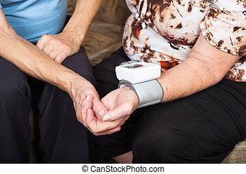 Senior blood pressure detail