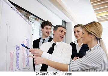 Senior business man giving a presentation