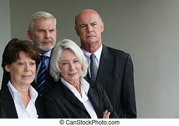 Senior business people