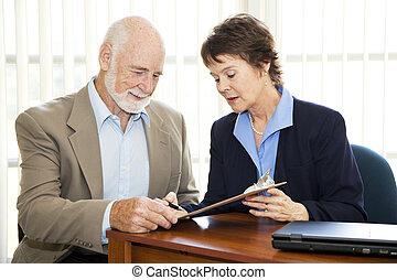 Senior Business - Sign Here