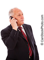 Senior businessman call