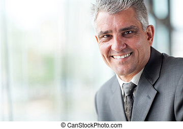 senior businessman close up - close up portrait of senior...