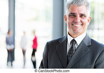 senior businessman close up portrait
