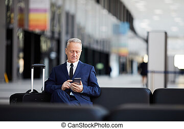 Senior Businessman in Airport