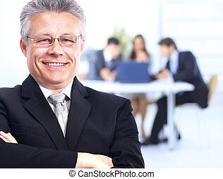senior businessman in office