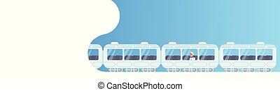 senior businessman sitting subway train car business man...