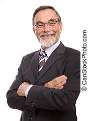 senior businessman smilin