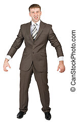 Senior businessman stands