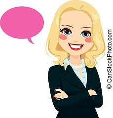 Senior Businesswoman Balloon - Portrait of a senior...