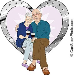 Senior Celebration - A vector illustration of an elderly man...