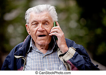 Senior Cell Phone Talking