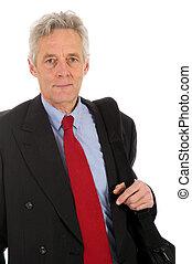 Senior CEO with neck tie