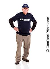 senior charity worker portrait