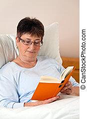 Senior citizen in a retirement home