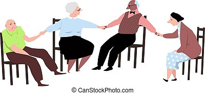 Senior citizen support group