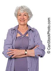 Senior Citizen Woman - Attractive senior citizen woman in...