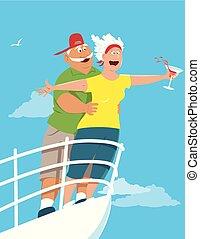 Senior citizens cruise