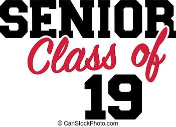 Senior class of 2019 black