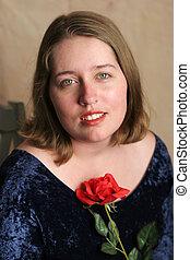 Senior Class Portrait with Rose 1