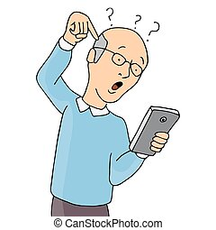 Senior Confused With Smartphone
