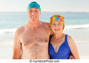 Senior couple at the beach