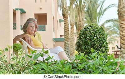 Senior couple at the resort