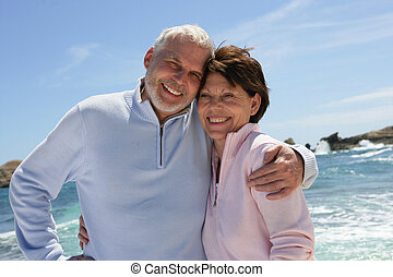 Senior couple by the sea