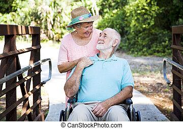 Senior Couple - Caretaker - Senior woman caring for her ...